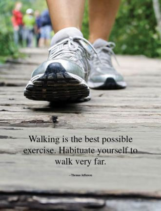 Exercise Walk Health Quote