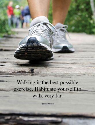 Exercise Walk Health Quote