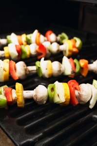 vegetable kabob